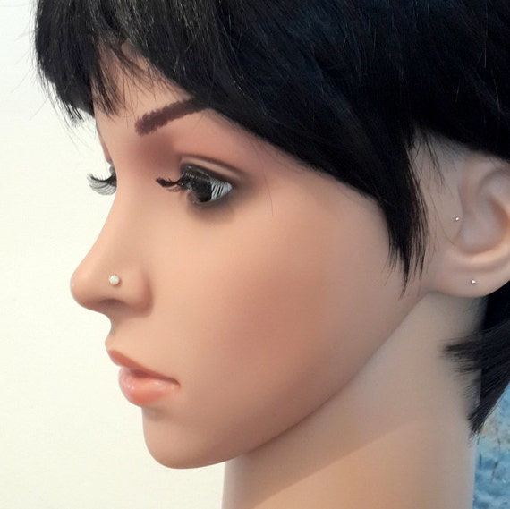 Sale Opal 3mm Nose Stud Tragushelix Studl Shapetragus Etsy