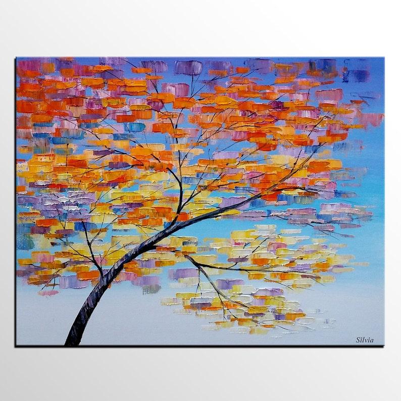 Abstrakte Kunst, große Gemälde, Baum-Malerei, Leinwand Kunst, Ölgemälde,  Kunst, Leinwand Malerei, abstrakte Malerei, große Kunst, gerahmte Kunst