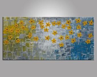 Flower Painting, Original Painting, Acrylic Painting, Oil Painting, Canvas Painting, Abstract Art, Wall Art Decor, Painting, Wall Painting