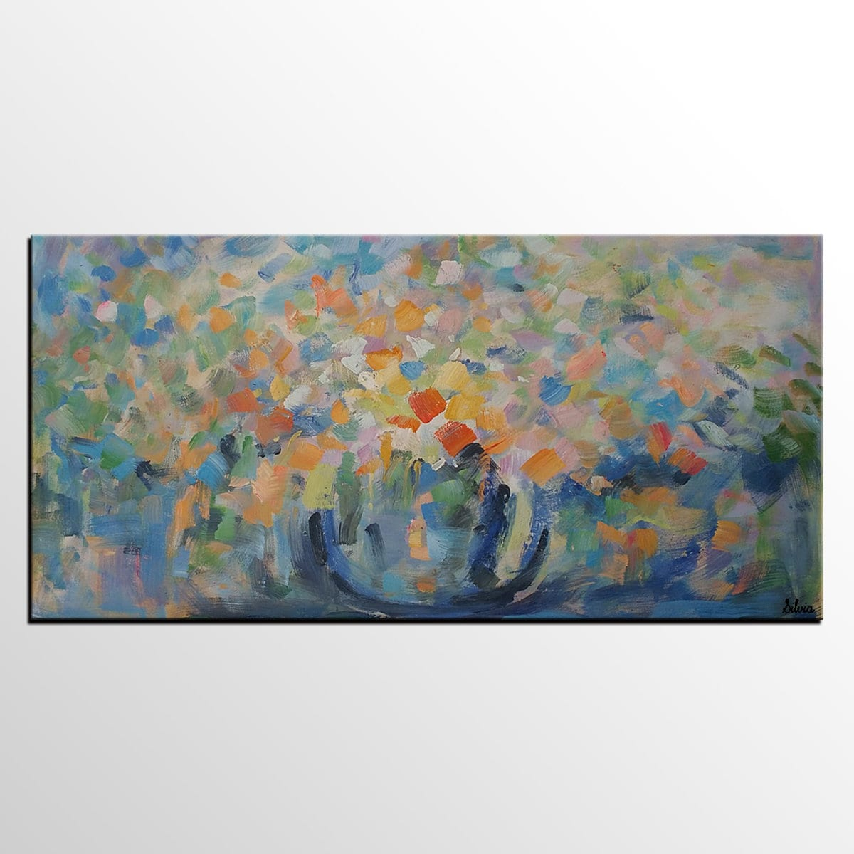 Flower still life painting bedroom wall art abstract painting original artwork canvas painting abstract canvas art oil painting
