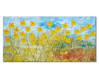 Canvas Painting, Original Oil Painting, Canvas Art, Abstract Art, Flower Painting, Wall Art, Original Painting, Abstract Painting, Large Art