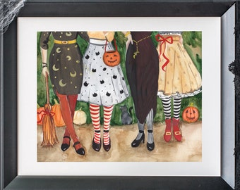 Halloween Witch Art Print INSTANT DOWNLOAD (Witches - Witch Decor - Witch Sign- Pumpkin Decor- BEST seller)