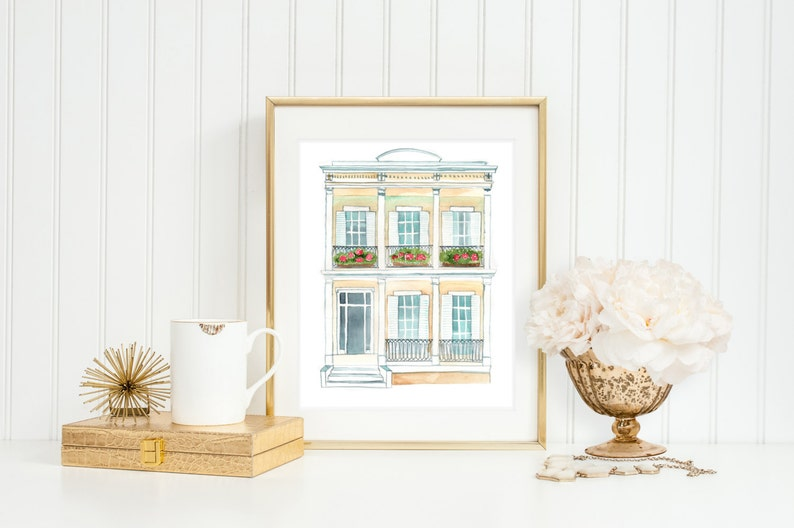 New Orleans Inspired Home Art Print New Orleans Decor image 0