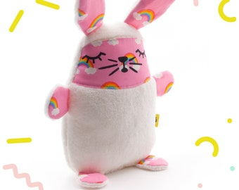 Very soft bunny cuddly toy made with wellness fleece and cotton for girl