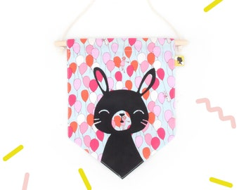Room decoration pennant for baby girl