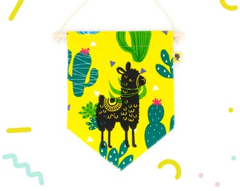 Room decoration pennant for baby girl or boy
