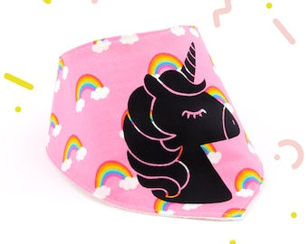 Cotton bandana bib for baby girl