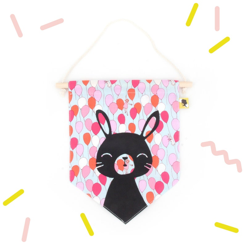 Room decoration pennant for baby girl image 0