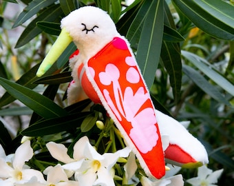 Stuffed Hummingbird with very soft fleece for baby and girls