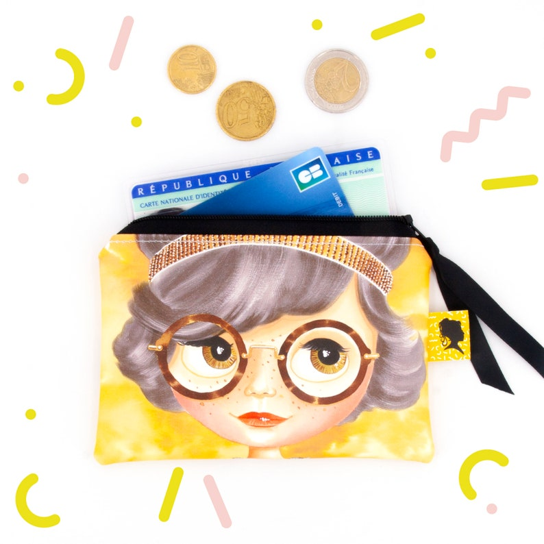 Coated cotton coin purse for women image 0
