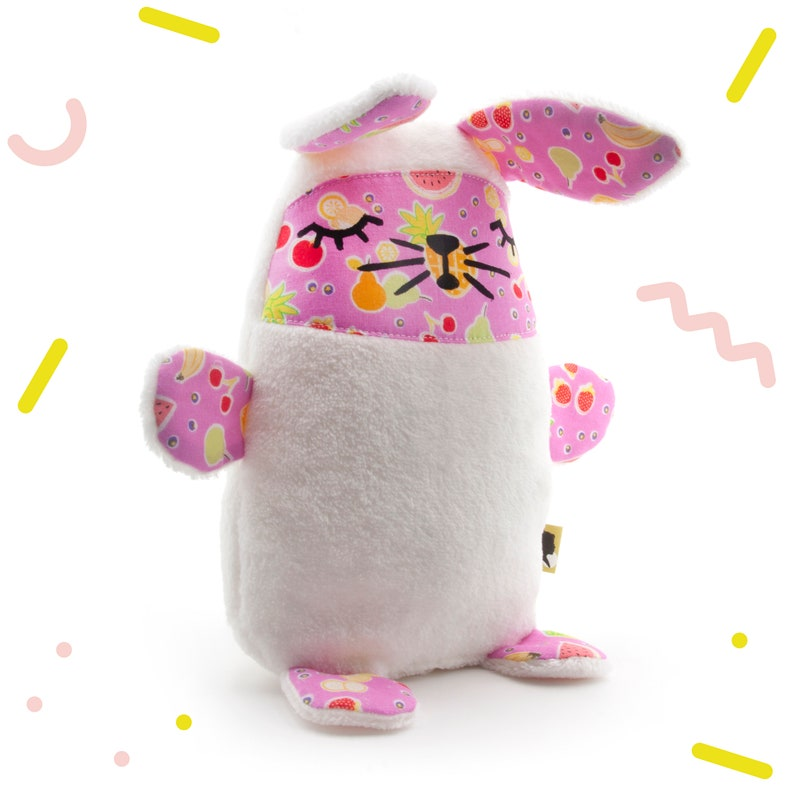 Very soft bunny cuddly toy made with wellness fleece and image 0