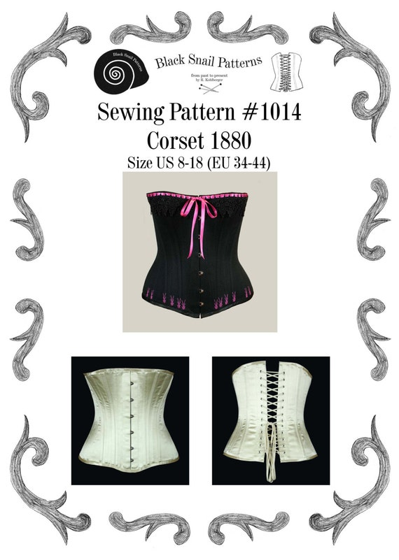Steampunk Corsets & Belts | Underbust, Overbust Victorian Corset Sewing Pattern #1014 Size US 8-30 (EU 34-56) Pdf Download $7.23 AT vintagedancer.com
