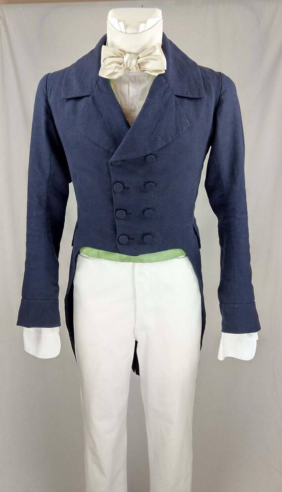 1830 Tailcoat linen sewing pattern 0517 Size US 34-48 EU | Etsy