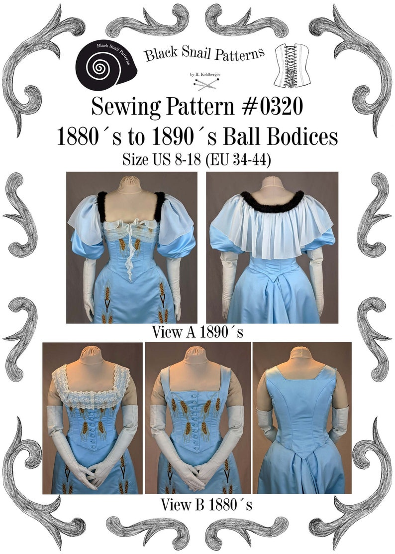 Guide to Victorian Civil War Costumes on a Budget Victorian Ladies Ball Bodices from 1880 to 1900 Sewing Pattern #0320 Size US 8-30 (EU 34-56) PDF Download $7.33 AT vintagedancer.com