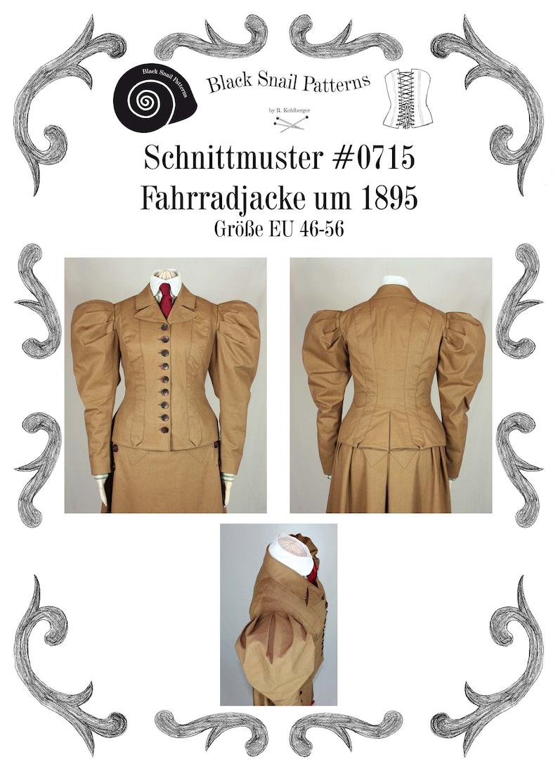 Titanic Clothing, Fashion, Outfit Ideas Edwardian Jacket 1895 Sewing Pattern #0715 Size US 8-30 (EU 34-56) PDF Download $8.87 AT vintagedancer.com