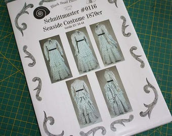 Victorian Dress Seaside Costume Sewing Pattern #0116 Size US 8-30 (EU 34-56) Printed Pattern