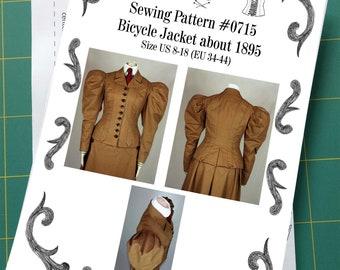 Edwardian Jacket 1895 Sewing Pattern #0715 Size US 8-30 (EU 34-56) Printed Pattern