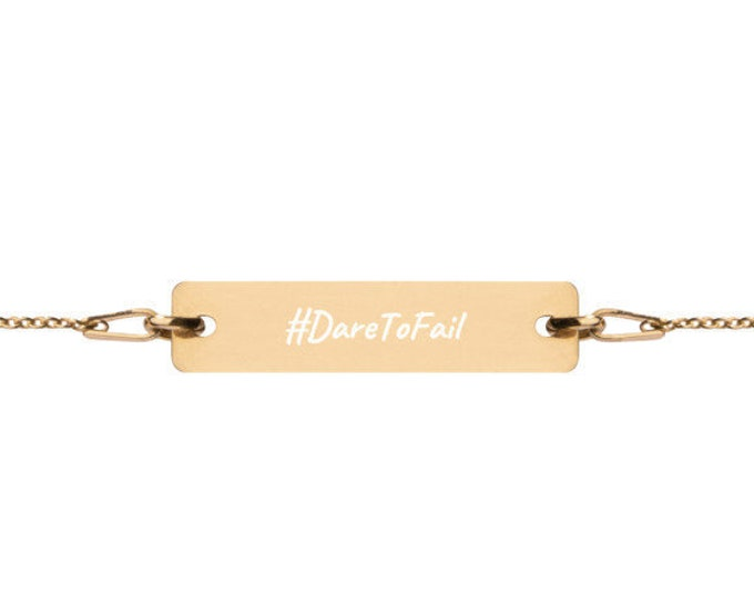 DareToFail - #HASHTAG Collection - Bar Chain Bracelet