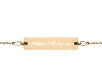 MyWorld•MyCanvas - #HASHTAG Collection - Bar Chain Bracelet