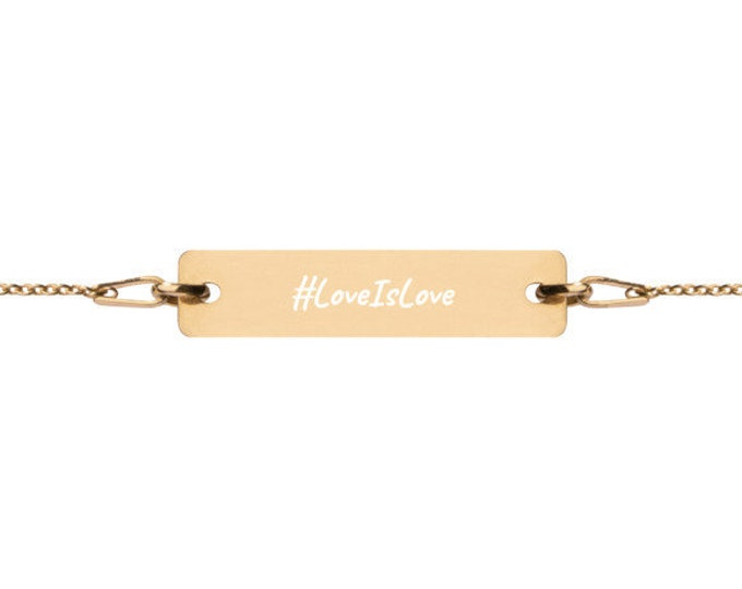 LoveIsLove - #HASHTAG Collection - Bar Chain Bracelet