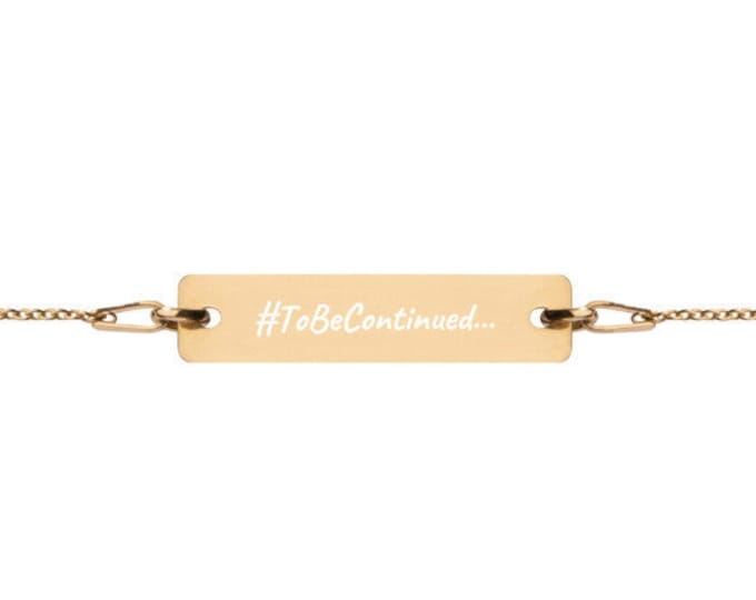 ToBeContinued... - #HASHTAG Collection - Bar Chain Bracelet