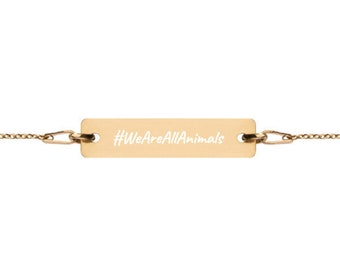 WeAreAllAnimals - #HASHTAG Collection - Bar Chain Bracelet