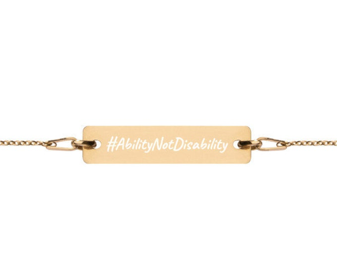 AbilityNotDisability - #HASHTAG Collection - Bar Chain Bracelet