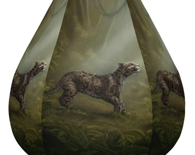 SumatraCTP: Bean Bag Chair w/ Filling - Clouded Mystery (Clouded Leopard) ***FREE SHIPPING***