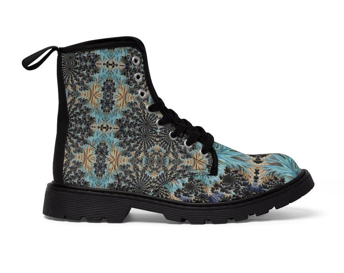 Women's Lace-Up Combat-Style Boots - Fractal #1 (CONQUERED! Brand)