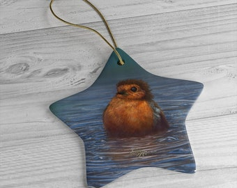 British Winter - Ceramic Ornament, Star ***FREE SHIPPING***