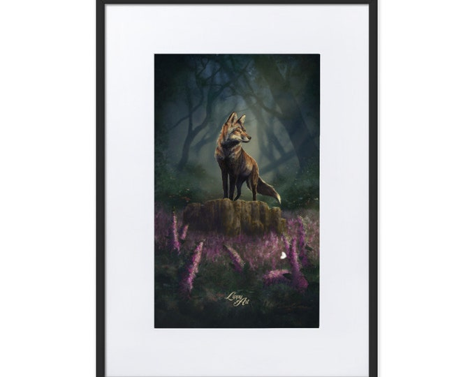 Barnaby's Adventure (Fox) - Digital Painting By Mouth - Print, Matte, Framed & Mounted (50x70cm)