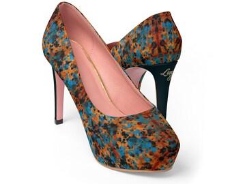 Women's Platform Heels - Paint