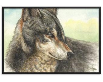 Nuka - Watercolour By Mouth - Print, Matte, Framed (61x91cm)