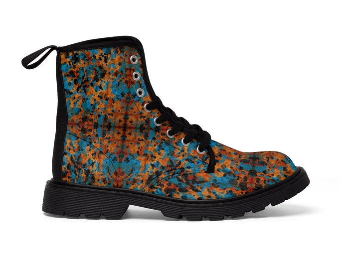 Women's Lace-Up Combat-Style Boots - Paint (CONQUERED! Brand)