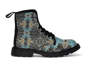 Men's Lace-Up Combat-Style Boots - Fractal #1 (CONQUERED! Brand)