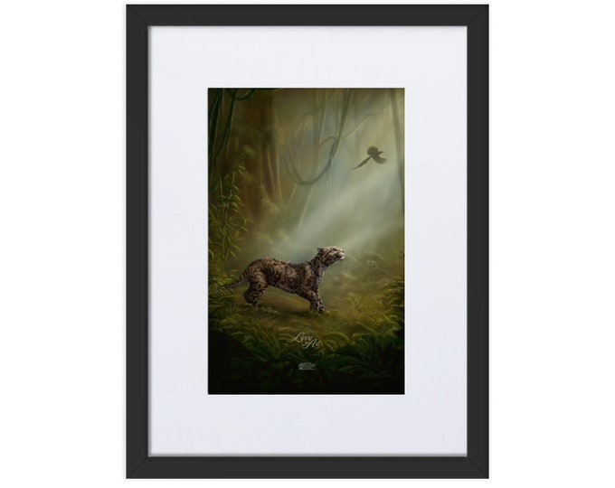 SumatraCTP: Clouded Mystery (Digital Painting By Mouth) - Print, Matte, Framed & Mounted (30x40cm) ***FREE SHIPPING***