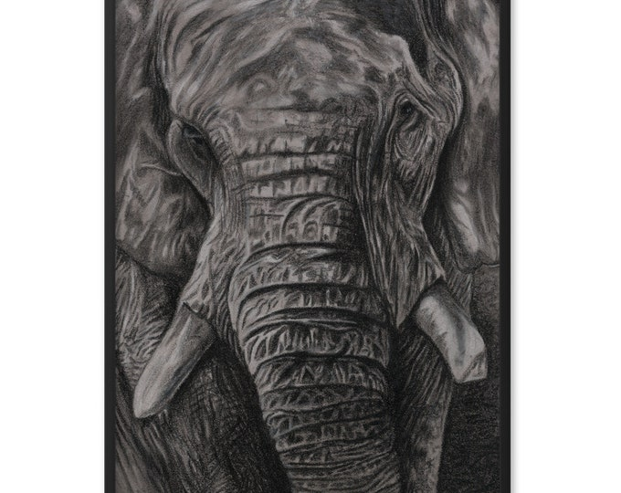 Charley - Charcoal By Mouth - Print, Matte, Framed (61x91cm)