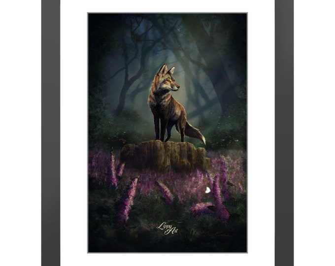 Barnaby's Adventure - Digital Painting By Mouth - Print, Lustre, Framed & Mounted (18 X 12 Inch)