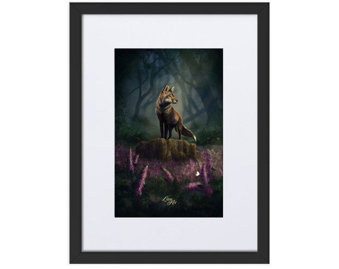 Barnaby's Adventure (Fox) - Digital Painting By Mouth - Print, Matte, Framed & Mounted (30x40cm)