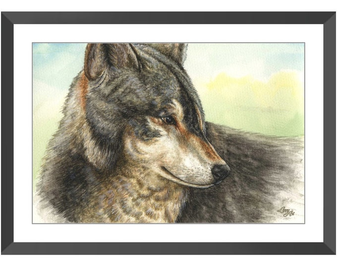 Nuka - Watercolour By Mouth - Print, Lustre, Framed & Mounted (20 X 30 Inch)