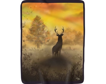 Into The Mist - Sherpa Fleece Blanket