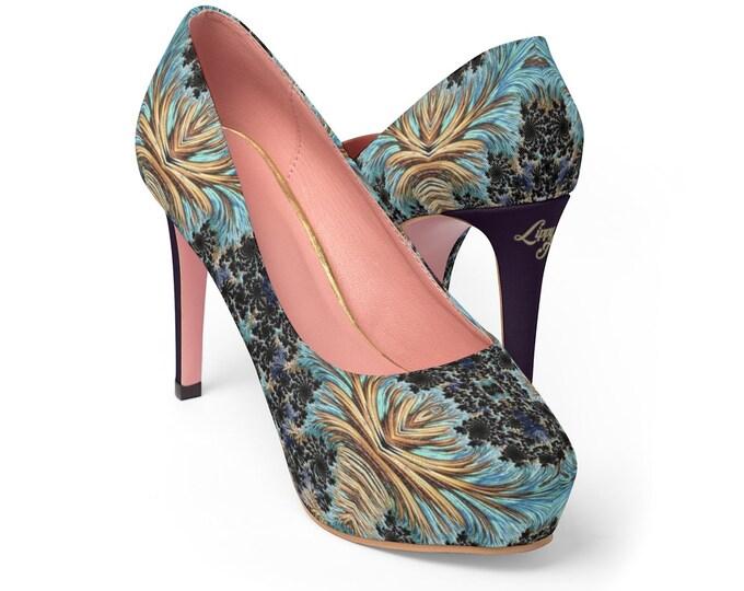 Women's Platform Heels - Fractal #1