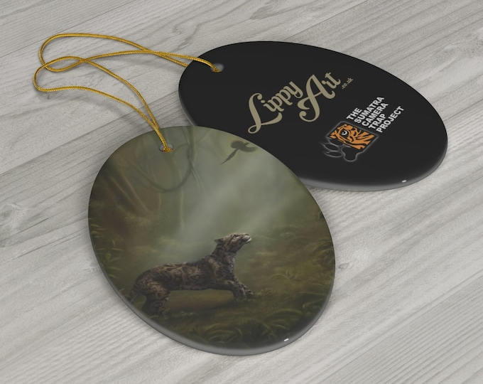 Clouded Mystery (SCTP) - Porcelain Ornament, Oval