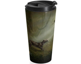 SumatraCTP: Travel Mug (15oz, Stainless Steel) - Clouded Mystery (Clouded Leopard)