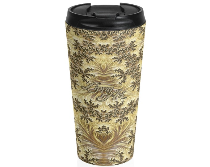 Gold - Travel Mug (15oz, Stainless Steel)