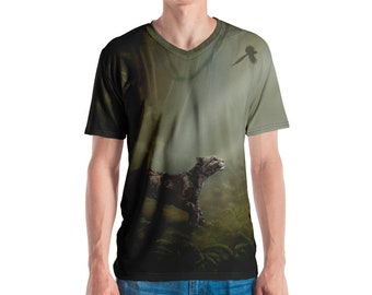 SumatraCTP: Men's V-neck Shirt  - Clouded Mystery (Clouded Leopard) ***FREE SHIPPING***