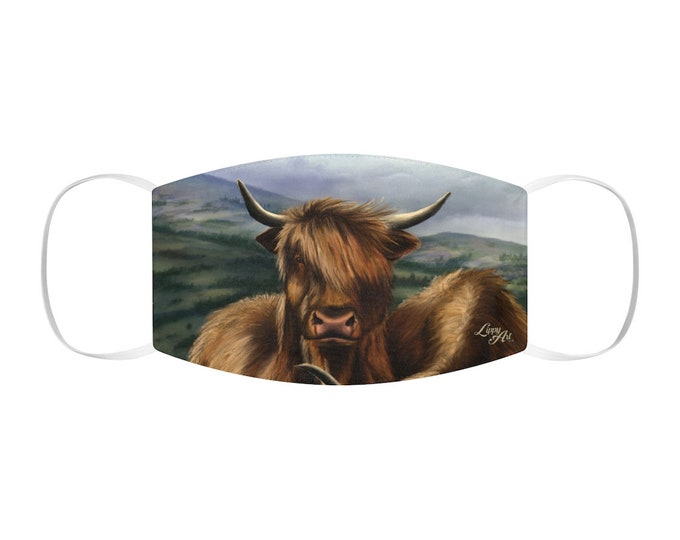 Bò Ghàidhealach - Snug-Fit Polyester Face Mask