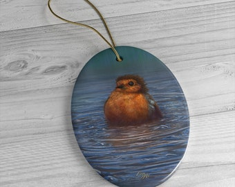 British Winter - Ceramic Ornament, Oval ***FREE SHIPPING***