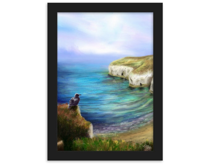 North Landing (Digital Painting By Mouth) - Print, Matte, Framed (21x30cm)