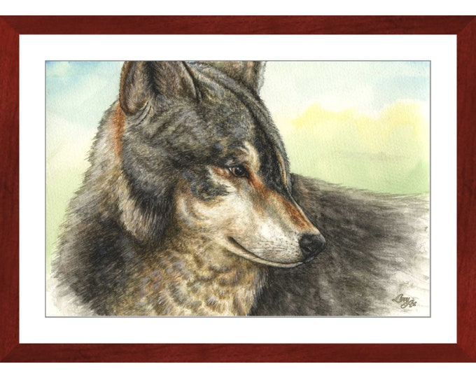 Nuka  (Watercolour By Mouth) - Print, Lustre, Framed & Mounted (20 X 30 Inch)